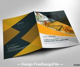 Orange and black presentation folder vector