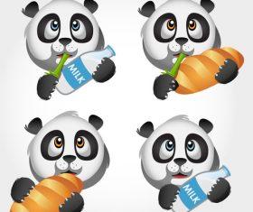 Panda icon vector