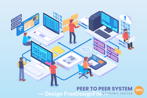 Peer to peer system vector concept