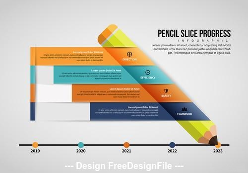 Pencil infographic vector