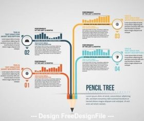 Pencil tree info chart vector