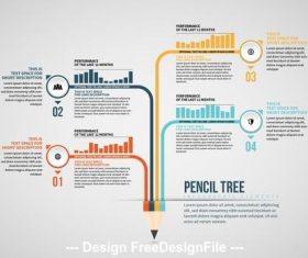 Pencil tree info chart vector