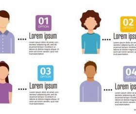 People infographic layout vector