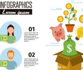 Personal finance infographic layout vector