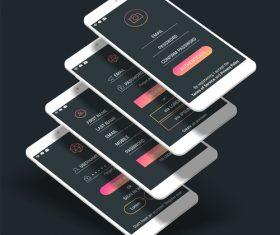 Phone login page app vector