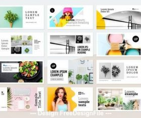 Photo banners flyers layouts vector