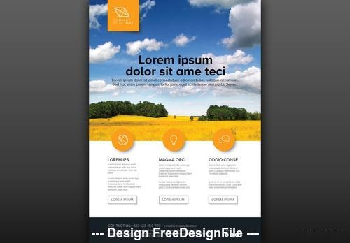 Photo placeholder flyer vector