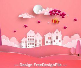 Pink background happy valentines day vector