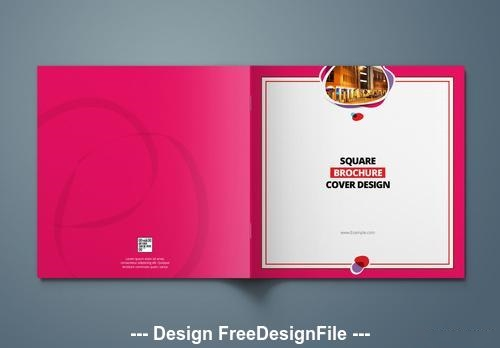 Pink square cover vector