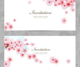 Plum flowers card vector