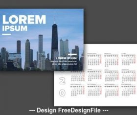 Postcard calendar vector