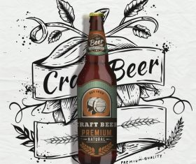 Premium beer poster vector