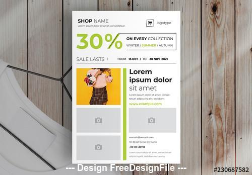 Product flyer layout vector