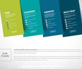 Product options infographic with blue elements vector