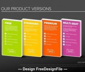Product options tier infographic vector