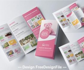 Product trifold brochure vector