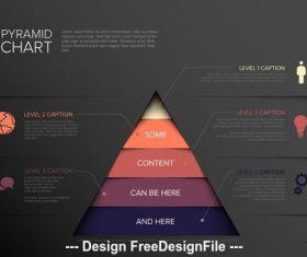 Pyramid info chart diagram vector
