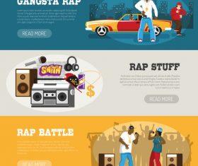 Rap banner vector