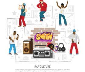 Rap culture vector