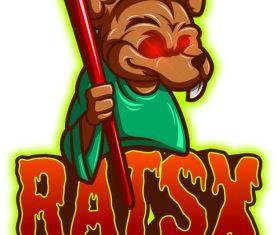 Rats mascot esport logo vector