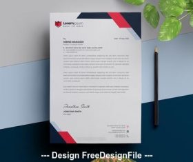 Red Letterhead vector