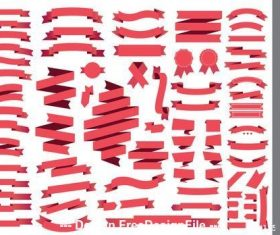 Red banner ribbons vector