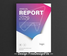 Report cover arrow and typographic vector