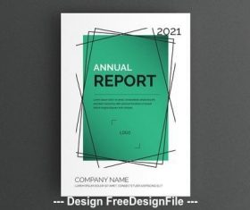 Report cover layout with green background vector