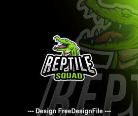 Reptile squad esport logo template vector