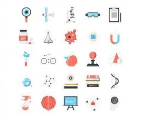 Research and science icons vector