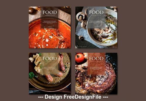 Restaurant food banner vector