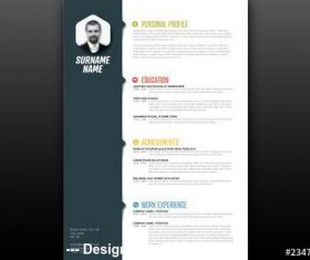 Resume layout vector