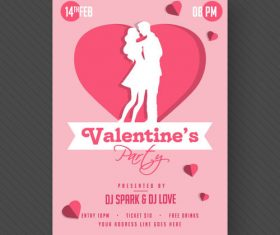 Retro valentine day card vector