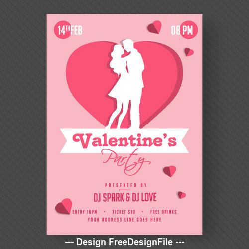 Retro valentine day card vector