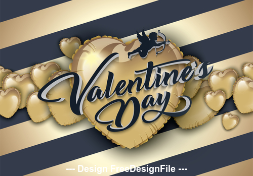 Romantic valentines day greeting card vector