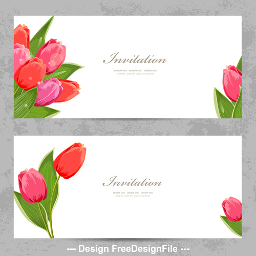 Rose flowers card vector