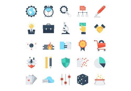 SEO and web icons vector