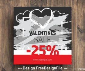 Sale card with red accents vector