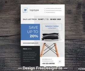 Sale flyer layout vector