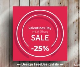 Sale white circle frames vector