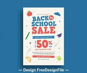 School themed card vector