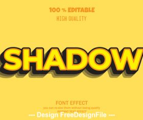 Shadow 3d font effect style illustration vector