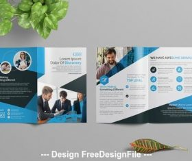 Simple foldable brochure vector