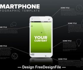 Smartphone display details info vector