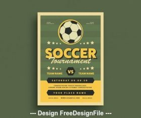 Soccer event graphic flyer vector