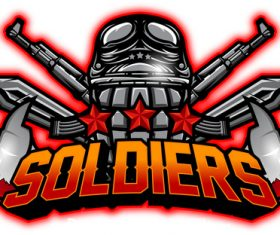 Soldier esport logo vector