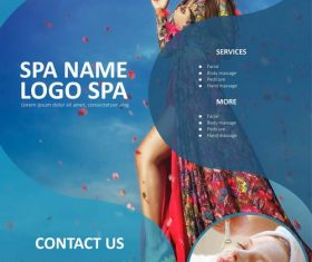 Spa logo business template flyer vector
