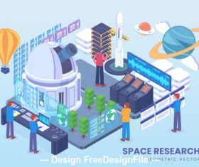 Space research vector concept