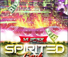 Spirited Party Flyer Template PSD Design