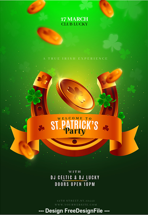 St. Patrick Flyer Template PSD Design